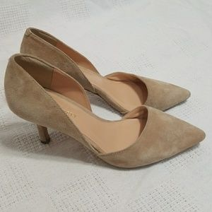 Sole Society Beige Suede D'Orsay Jenn Pumps - 6
